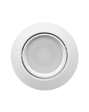 LED downlight — ROUND, IP44, CCT 2700-4000-5300K adjustable & dimmable 9W,SILVER, high CRI98