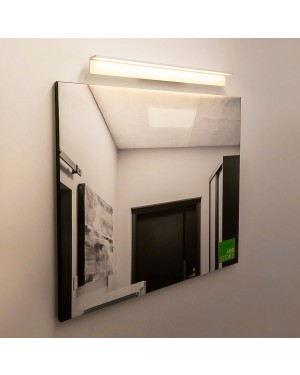 Indoor LED wall light fixture — BLADE 600, water resistant IP54, matte white 8,4W