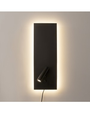 LED wall light NIGHT, Bed light, black 9W