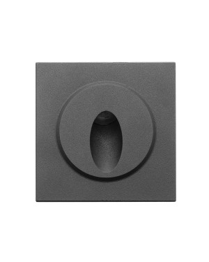 LED FUNK IN-WALL light fixture for stair lighting IP66, Black 3W 24V