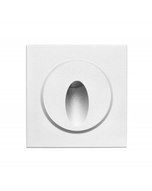 LED FUNK IN-WALL light fixture for stair lighting IP66, silver 3W 24V
