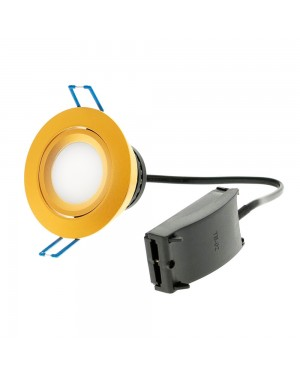 COB LED downlight — ModLed, high CRI97 dimmable module 8W and recessed matte gold frame