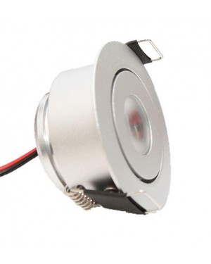 Adjustable & recessed SPOT for LED set 097, dimmable, silver, 3000K