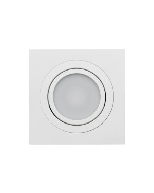 LED downlight — SQUARE, CCT 2700-4000-5300K,dimmable, tiltable 9W, IP44 WHITE, high CRI98