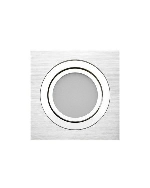 LED downlight — SQUARE, CCT 2700-4000-5300K,dimmable, tiltable 15W, Brushed, high CRI98