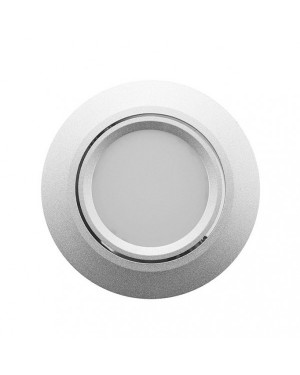 LED downlight — ROUND, IP44, CCT 2700-4000-5300K adjustable & dimmable 15W, SILVER, high CRI98