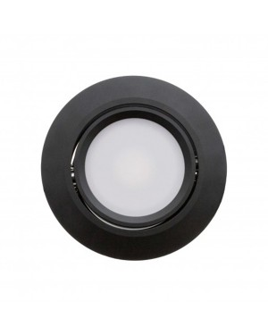 LED downlight — ROUND, IP44, CCT 3000-4000-5500K adjustable & dimmable 9W, BLACK, high CRI98
