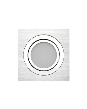 LED downlight — SQUARE, CCT 2700-4000-5300K,dimmable, tiltable 9W, Brushed aluminum, high CRI98