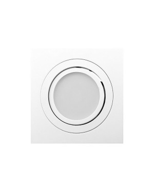 LED downlight — SQUARE, IP44, adjustable & dimmable 9W, matte white, high CRI97