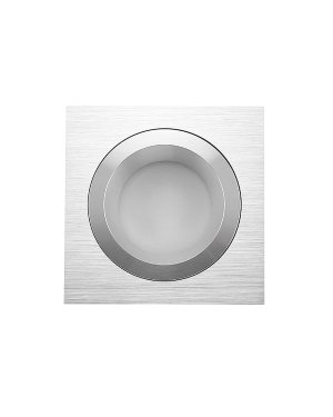 LED downlight — SQUARE, IP54, dimmable 9W, brushed aluminum, high CRI97