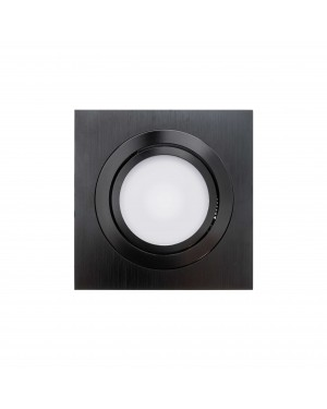 LED downlight — SQUARE, CCT 2700-4000-5300K,dimmable, tiltable 9W, BLACK, high CRI98