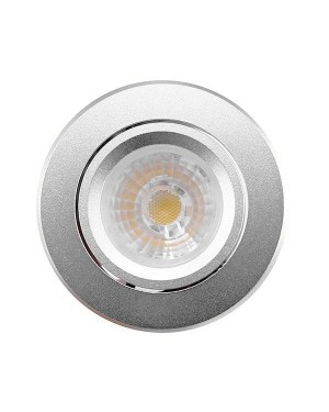 LED downlight — BUDGET, adjustable & dimmable 8W, silver, CRI85