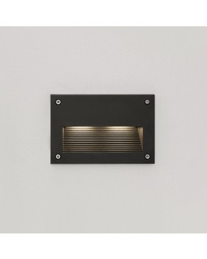 LED outdoor IN-WALL OUT 2 fixture, water resistant IP55, for stair or wall lighting 3W BLACK