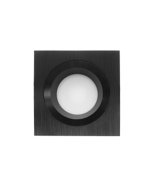 LED downlight — SQUARE, IP54, CCT 2700-4000-5300K,dimmable 9W, BLACK, high CRI98