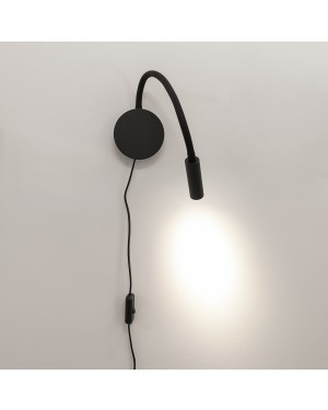 LED wall light NIGHT Loop, Bed light, black 3W