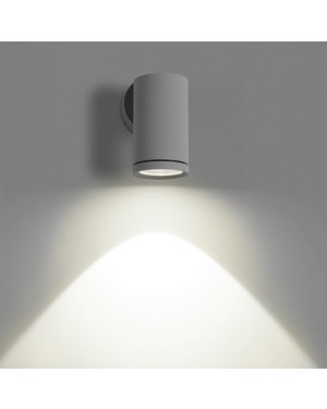 LED outdoor wall light fixture — ROUND OUT, water resistant IP55, one direction 3W