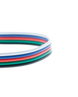 1m Five condutors cable for RGBW-strip mounting