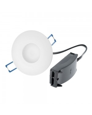 COB LED downlight — ModLed, high CRI97 dimmable module 8W and recessed water resistant IP54 frame, white