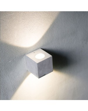 Indoor up down LED wall light — CUBIC 2, 2x3W, brushed aluminium, high CRI90