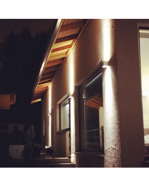 LED outdoor wall light fixture — CUBIC OUT 2, water resistant IP55, up and down lights 2x3W