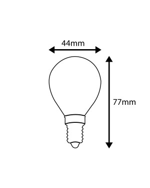 LED E14 dimmable bulb — GLOBE, milky, high CRI95, 4W