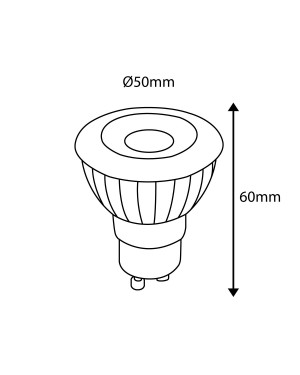 LED GU10, 40°, high CRI95+, dimmable spot 6W