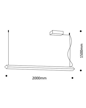 Suspended ceiling led light fixture — WIRE for office 42W, CRI90, 4000K