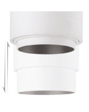 LED ceiling track light — ZOOM, dimmable 50W, for 3 phase track, white